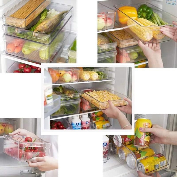 Plastic Fridge Organizer (4 Pieces)