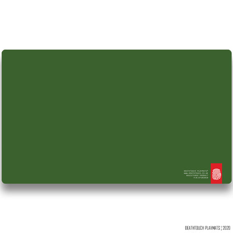 DEATHTOUCH PLAIN GREEN PLAYMAT