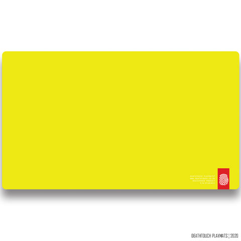 DEATHTOUCH PLAIN YELLOW PLAYMAT