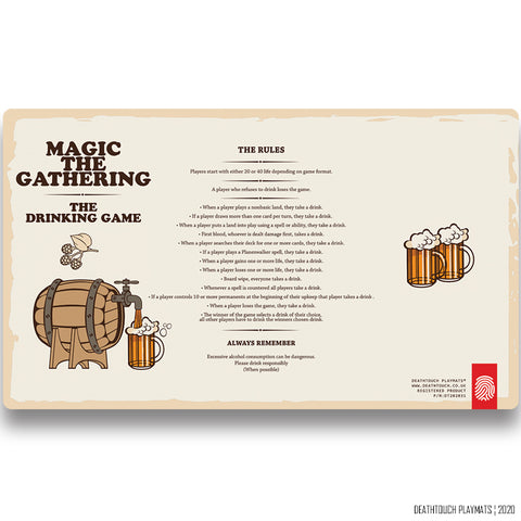 DEATHTOUCH MTG DRINKING GAME PLAYMAT
