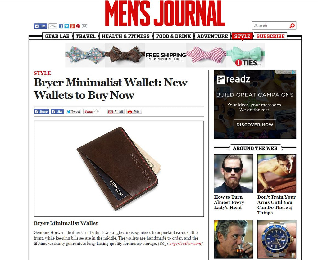 Minimalist Wallet - New Wallets to Buy Now as featured in MEN'S JOURNAL