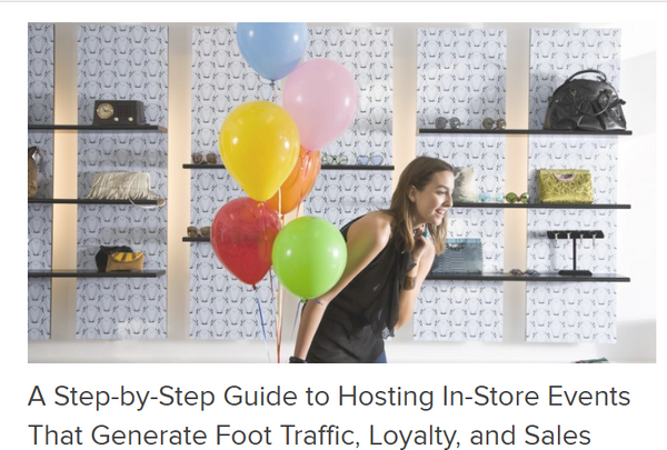 Hosting In Store events