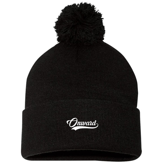 Onward Pom Pom Knit Cap