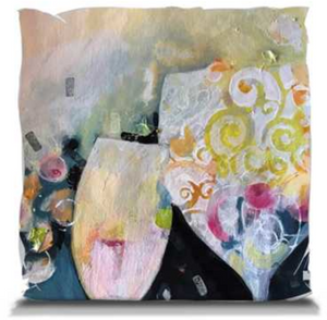 """Bubbly"" Throw Pillow"