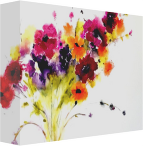 Misty Flowers Canvas Prints