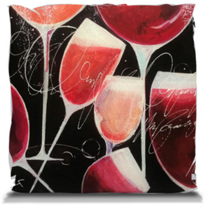 """Wine by the Glass"" Throw Pillow"