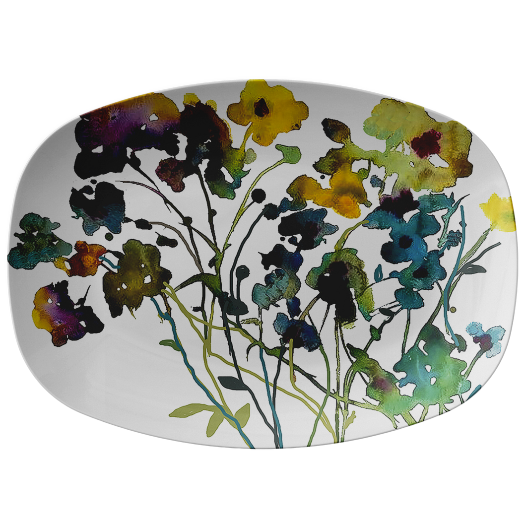 Flowerful Serving Platter