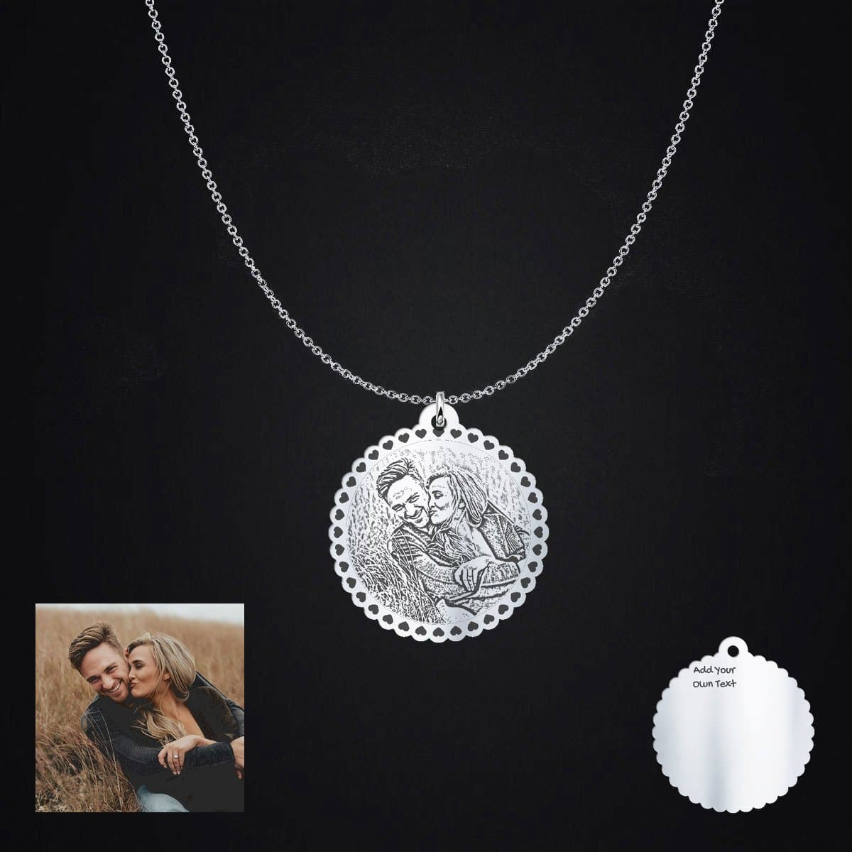 Happy couple Photo Pendant