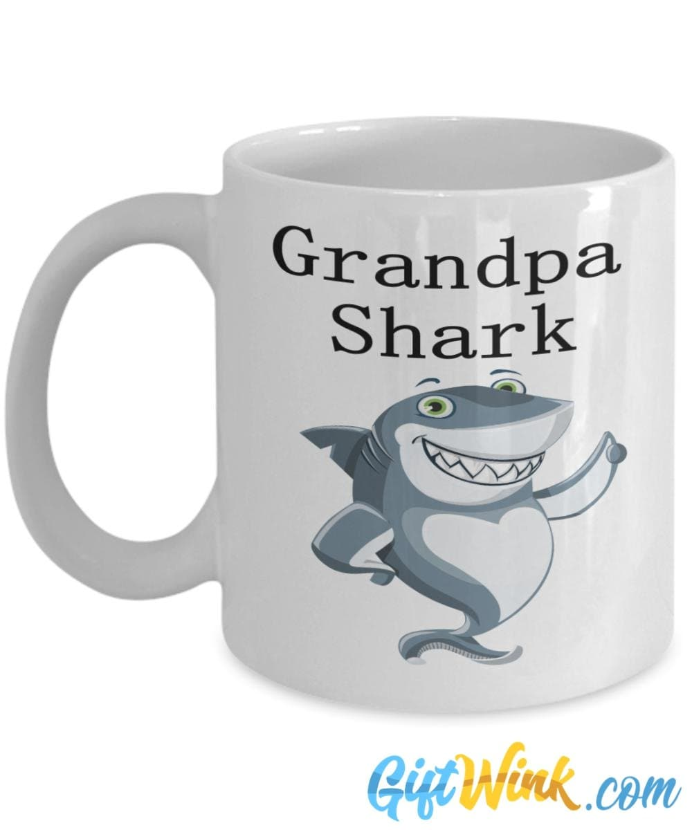 Best Grandpa Christmas Gift - Grandpa Shark Mug-Coffee Mug-Gift Wink