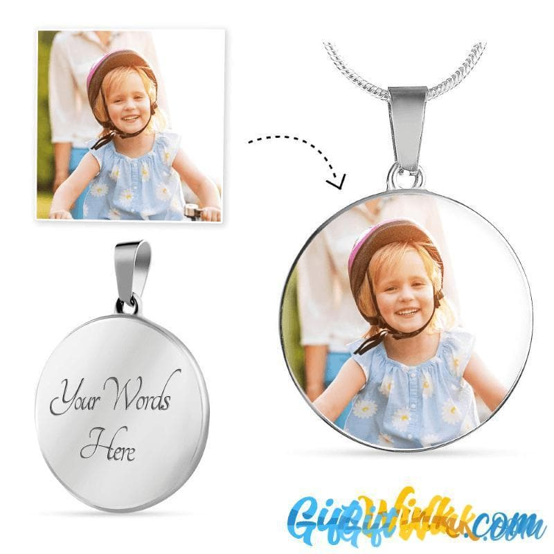 Circle Photo Necklace-Jewelry-Gift Wink
