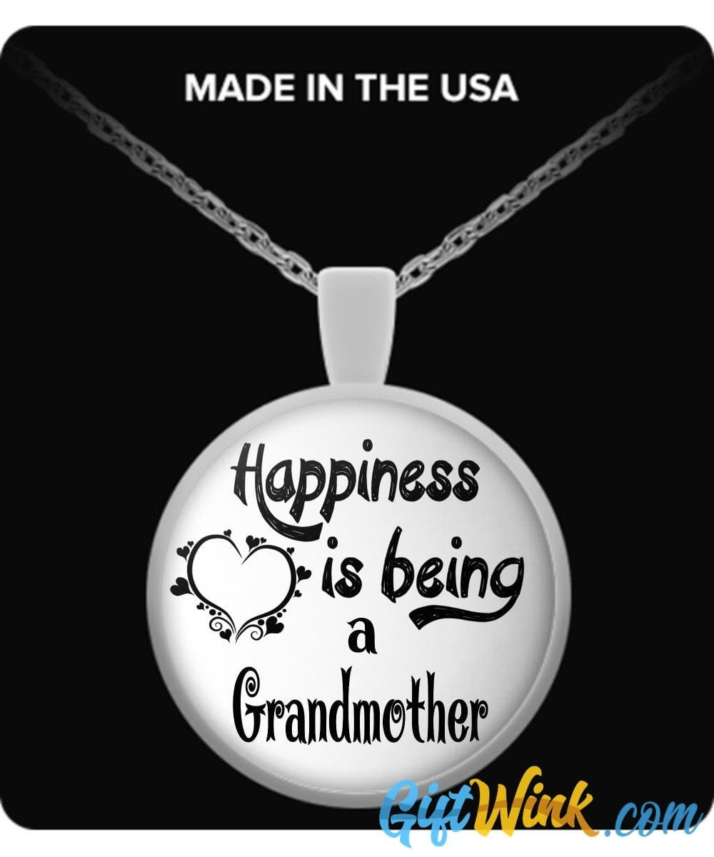 Happiness is Being a Grandmother-Necklace-Gift Wink