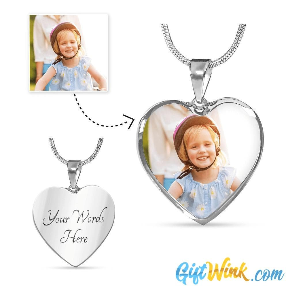 Heart Photo Necklace-Jewelry-Gift Wink