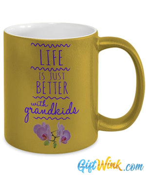 Life is Just Better with Grandkids Mug!-Coffee Mug-Gift Wink