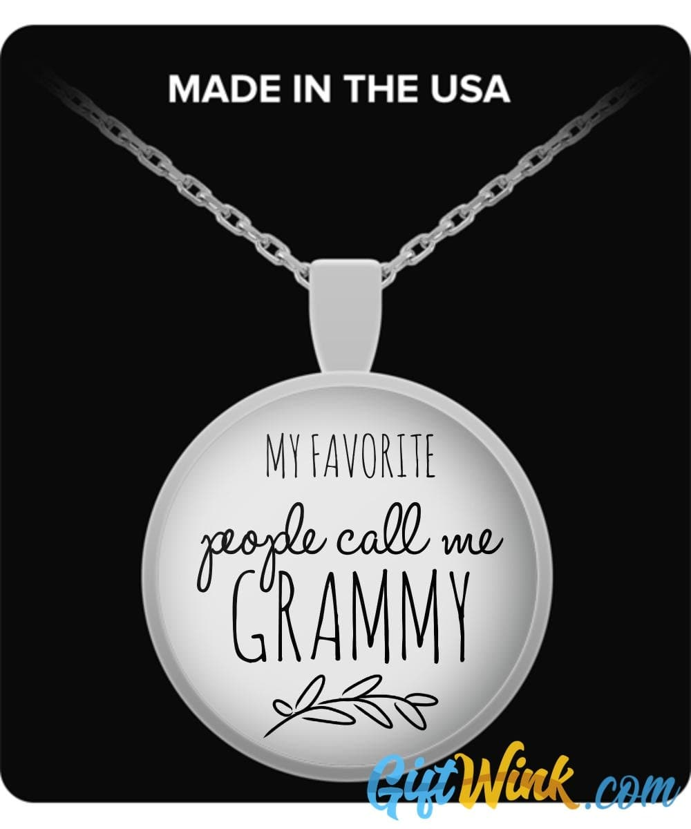 My Favorite People Call Me Grammy - Necklace-Necklace-Gift Wink