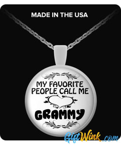 My Favorite People Call Me Grammy-Necklace-Gift Wink