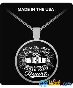 My Grandchildren are Always Close to My Heart-Necklace-Gift Wink