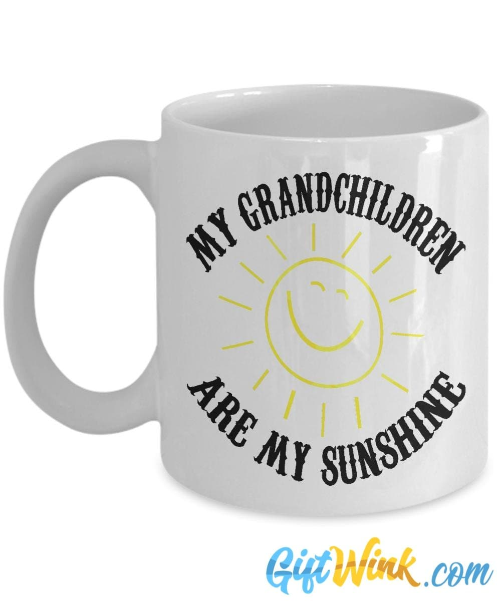 My Grandchildren are My Sunshine Mug-Coffee Mug-Gift Wink