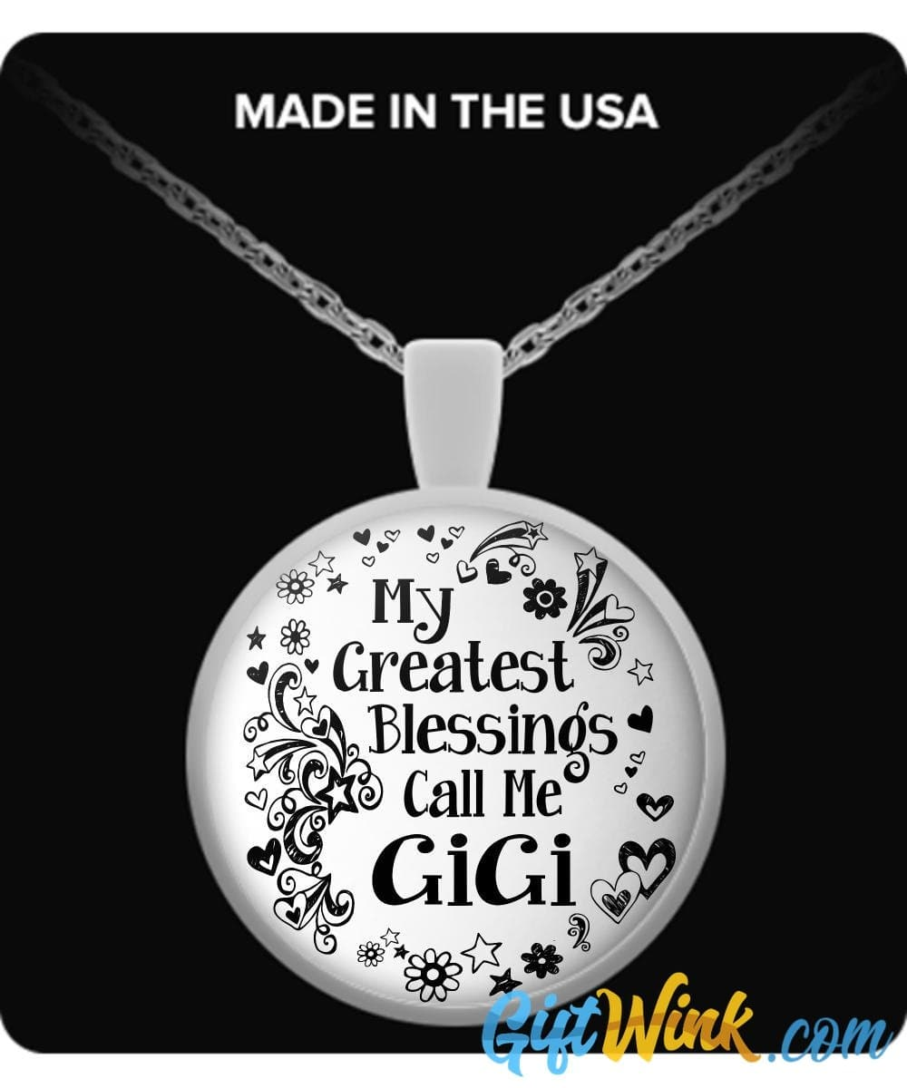 My Greatest Blessings Call Me GiGi-Necklace-Gift Wink