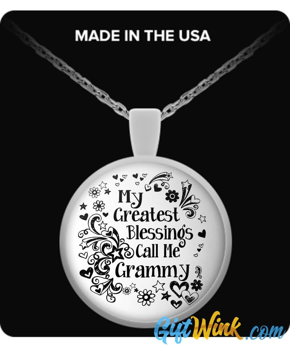 My Greatest Blessings Call Me Grammy-Necklace-Gift Wink