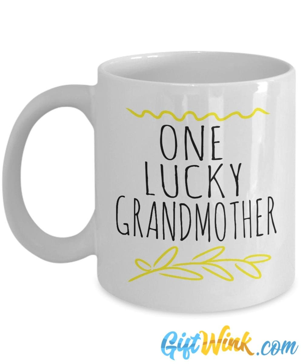 One Lucky Grandmother Mug!-Coffee Mug-Gift Wink