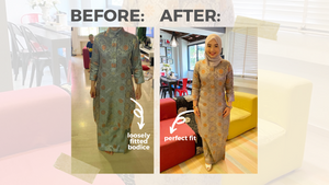 online alteration baju kurung songket fitted