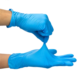 Nitrile Protective Gloves (Blue) (Box of 200 Gloves)