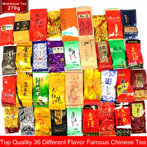 Green Food New 36 Different Flavors Slimming Tea 260g Chinese Herbal Flower High Quality Gift Including Milk Oolong Puer Tea