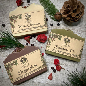 Solstice Fir ~ Fresh & Green Rustic Holiday Soap