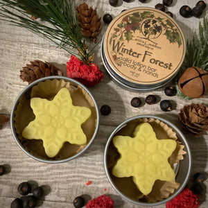 Winter Forest ~ Mini Solid Lotion Bar for Body & Hands