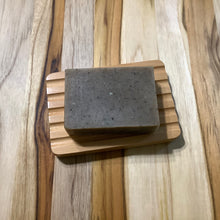 Load image into Gallery viewer, Rectangle Grooved Wooden Soap Dish