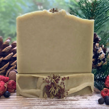 Load image into Gallery viewer, Solstice Fir ~ Fresh & Green Rustic Holiday Soap