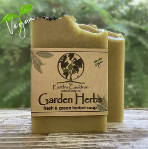 Garden Herbs ~ Fresh & Green Herbal Soap ~ Vegan 🌱