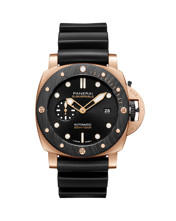PANERAI SUBMERSIBLE GOLDTECH OROCARBO, 44 MM, ROSE GOLD