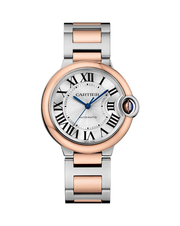 BALLON BLEU DE CARTIER, 36 MM, ROSE GOLD AND STEEL