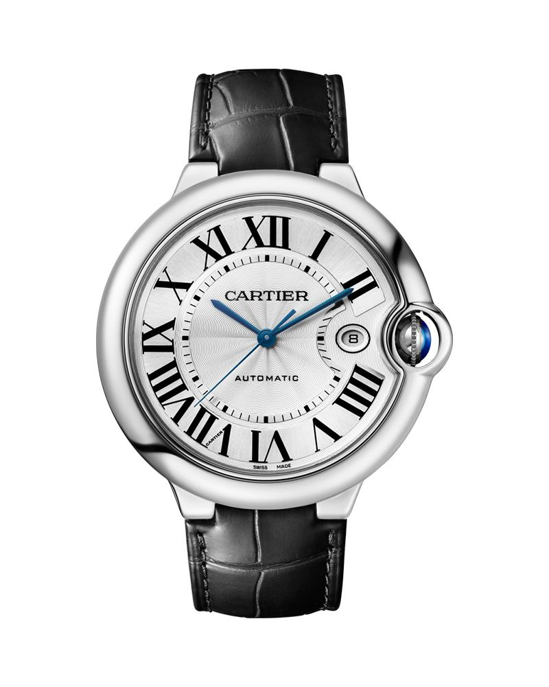 BALLON BLEU DE CARTIER, 42 MM, STEEL, LEATHER