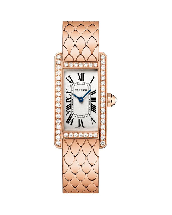TANK AMERICAINE, SMALL, ROSE GOLD, DIAMONDS