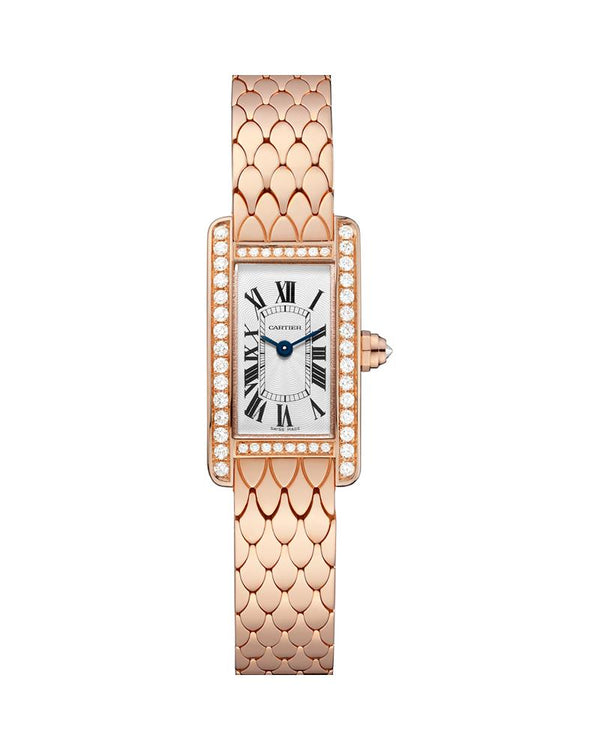 TANK AMERICAINE, MINI, ROSE GOLD, DIAMONDS