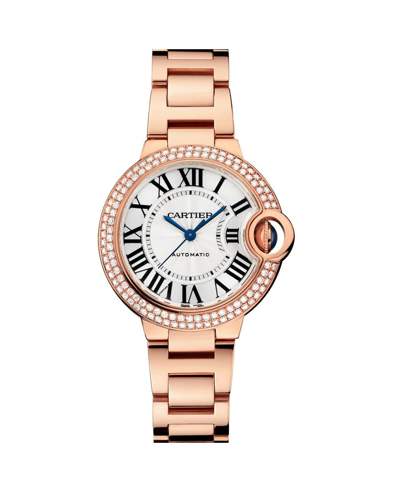 BALLON BLEU DE CARTIER, 33 MM, 18K ROSE GOLD, DIAMONDS