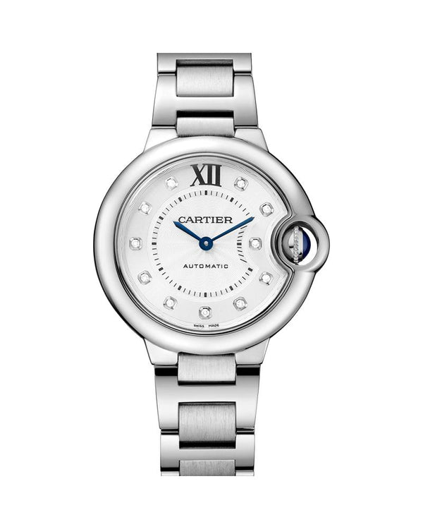 BALLON BLEU DE CARTIER, 33 MM, STEEL, DIAMONDS