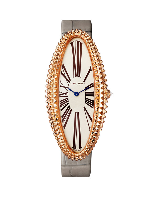 BAIGNOIRE ALLONGEE WATCH, EXTRA LARGE MODEL, ROSE GOLD