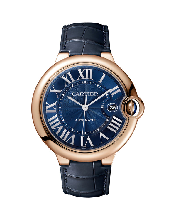 BALLON BLEU DE CARTIER, 42 MM, 18K ROSE GOLD, LEATHER