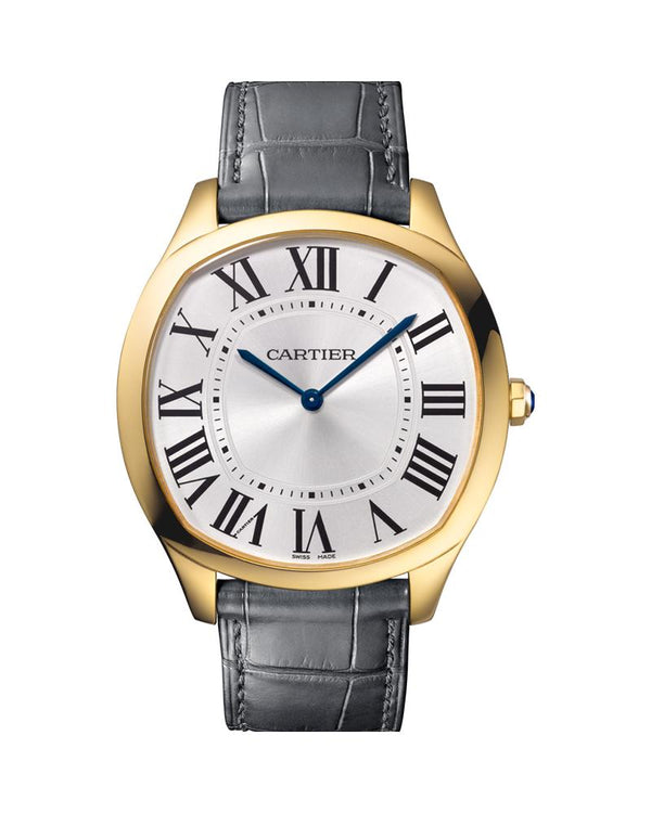 DRIVE DE CARTIER, LARGE MODEL, YELLOW GOLD, LEATHER
