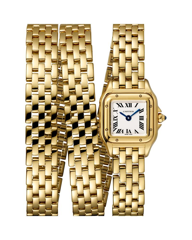 PANTHERE DE CARTIER, MINI, TRIPLE LOOP, YELLOW GOLD