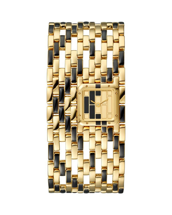 PANTHERE DE CARTIER, CUFF, YELLOW GOLD AND BLACK LACQUER