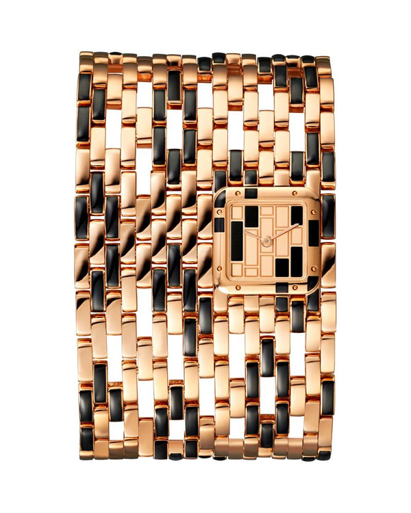 PANTHERE DE CARTIER, CUFF, EXTRA LARGE, ROSE GOLD AND BLACK LACQUER