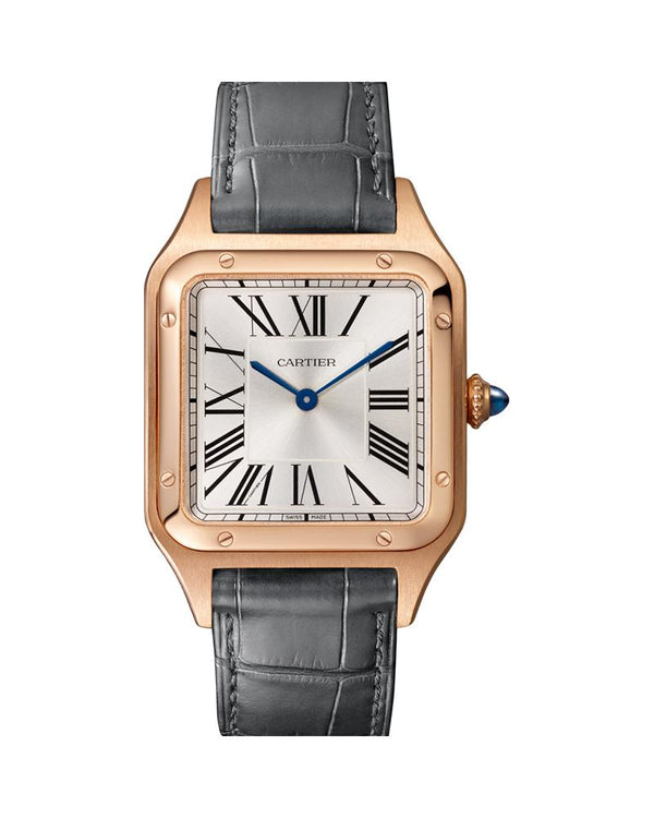 SANTOS DUMONT, LARGE, ROSE GOLD, LEATHER