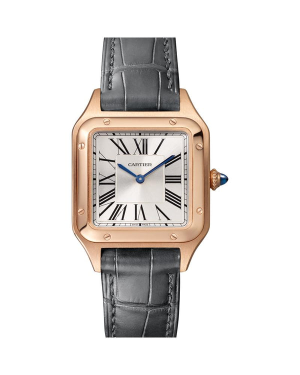SANTOS DUMONT, SMALL, ROSE GOLD, LEATHER