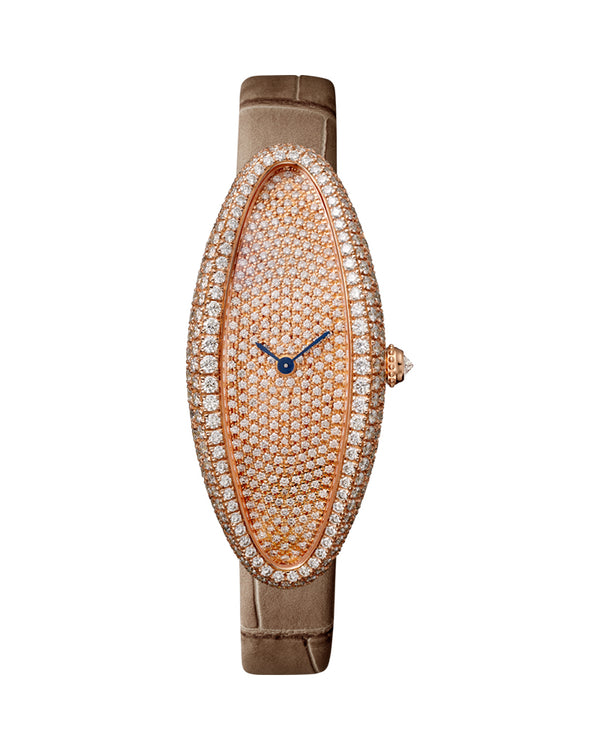 BAIGNOIRE, MEDIUM MODEL, 18K ROSE GOLD, DIAMONDS