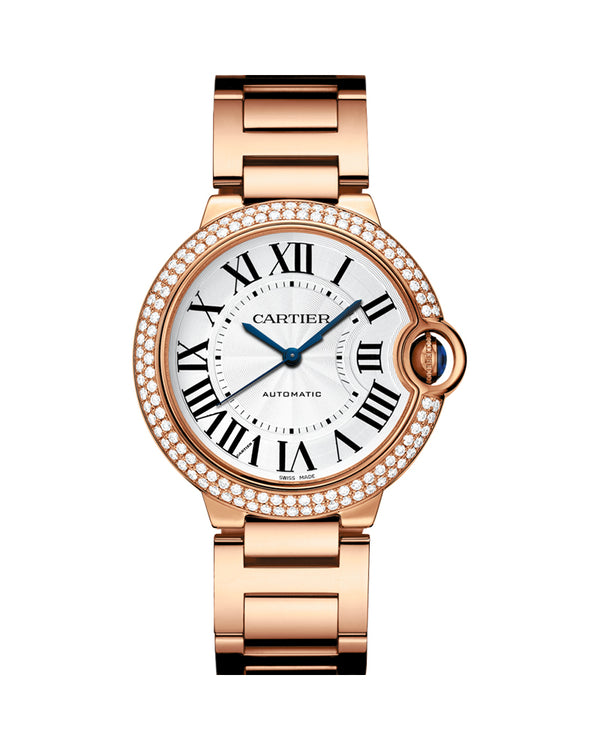 BALLON BLEU DE CARTIER, 36 MM, ROSE GOLD, DIAMONDS
