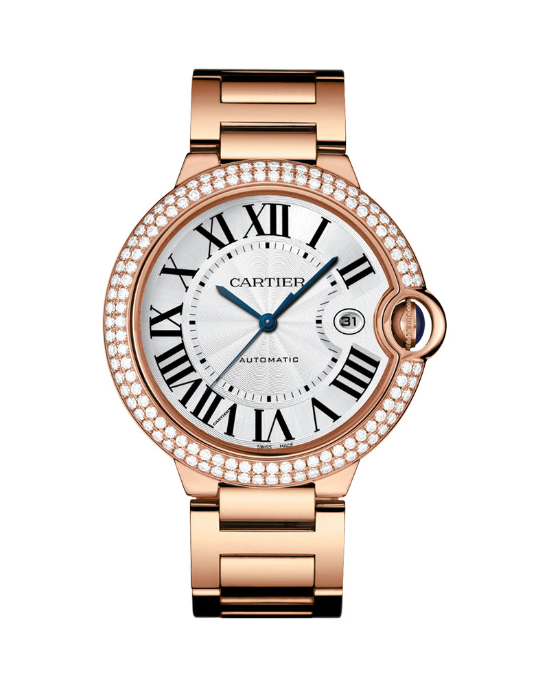 BALLON BLEU DE CARTIER, 42 MM, ROSE GOLD, DIAMONDS, SAPPHIRE